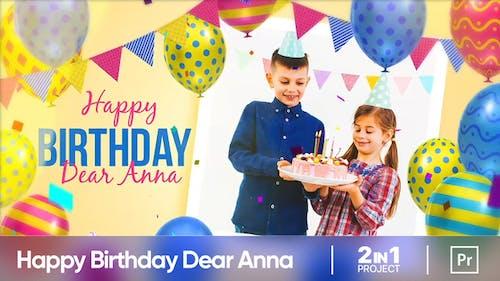 Happy Birthday Dear Anna (MOGRT)