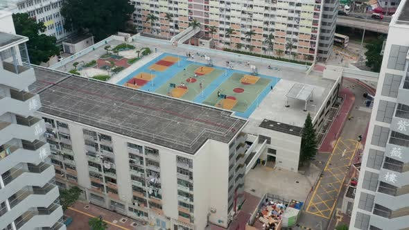Thumbnail for Top view of Choi Hung estate in Hong Kong