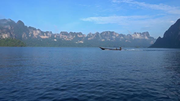 Thumbnail for View From Boat on Cheow Lan Lake, Thailand