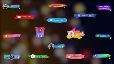 Brush Social Media Lower Thirds || FCPX