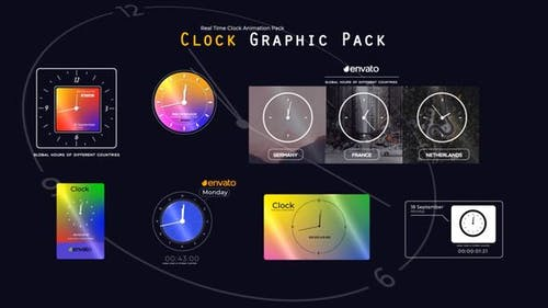 Real Time Clock Animation Pack