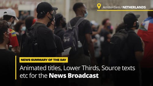 News Titles - Animated Titles and Lower Thirds for Broadcast News