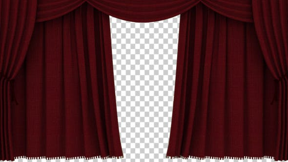 Thumbnail for Realistic Red Curtain Opening