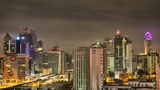 Thumbnail for Bangkok Skyline At Night Timelapse In HDR 2