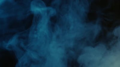 Abstract blue smoke texture