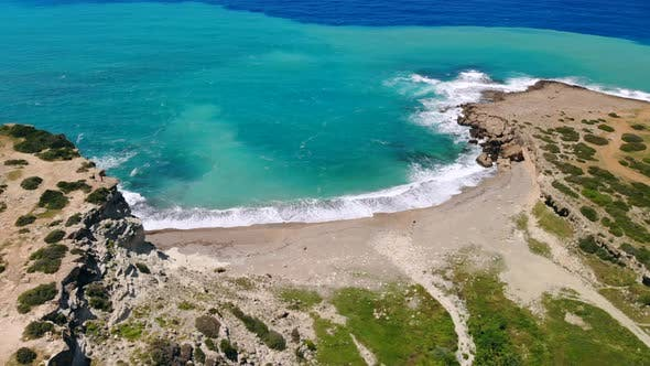 Thumbnail for Deserted Beach with Crystal Clear Water on Shores of Mediterranean Sea