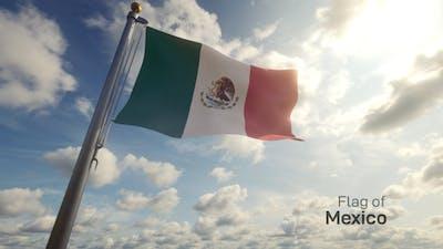 Mexico Flag / Mexican Flag on a Flagpole
