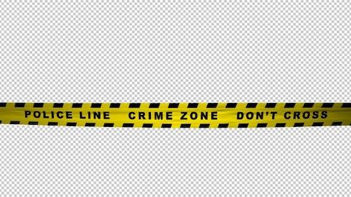 Warning Tape - Police Line - Crime Zone - 4K Loop