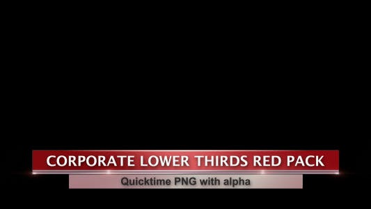 Thumbnail for Corporate Lower Thirds Red Pack