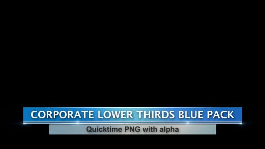 Thumbnail for Corporate Lower Thirds Blue Pack