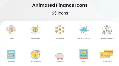 Animated Finance Icon Set