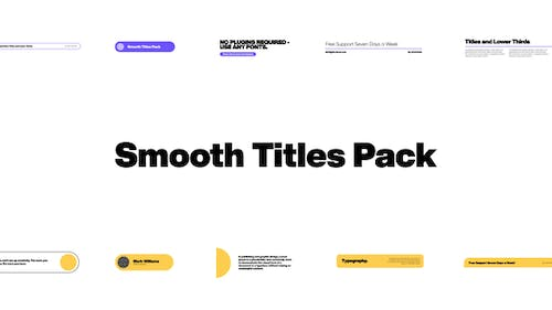 Smooth Titles Pack