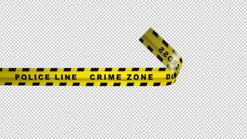 Warning Tape - Police Line - Crime Zone - 4K Transition