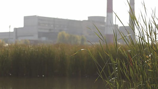 Thumbnail for Green Grass With Lake And Factory