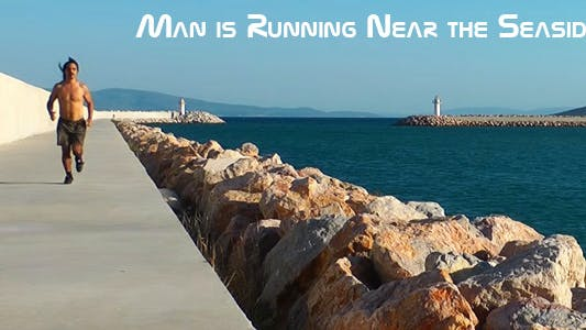 Cover Image for Man Running Near The Seaside