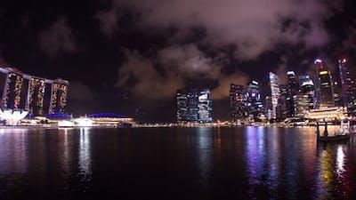 Clouds Over Singapore Skyline Timelapse Fisheye
