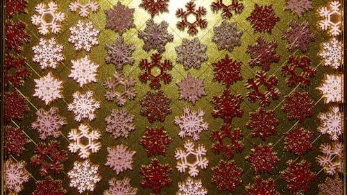 Rotating Golden Snowflakes 10