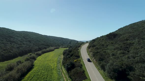 Thumbnail for Car Driving On Countryside Road In Portugal