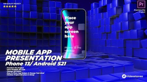 Mobile App Presentation - App Promo Kit - Phone 13 App Demo - App Demonstration Video Premiere Pro