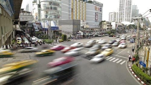 Traffic Jam In Busy Bangkok City Timelapse
