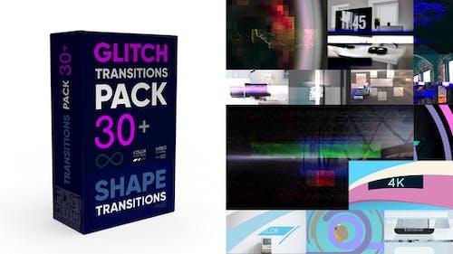 Glitch Transitions Pack 4K