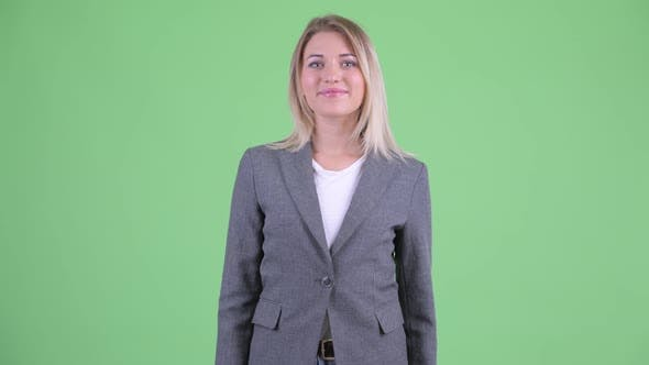 Thumbnail for Happy Young Beautiful Blonde Businesswoman Smiling