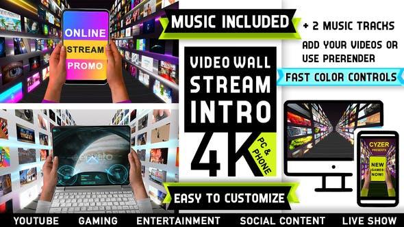Media Streaming Content Intro Logo
