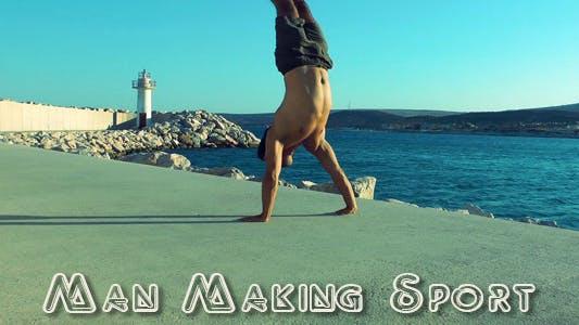 Thumbnail for Man Making Sport