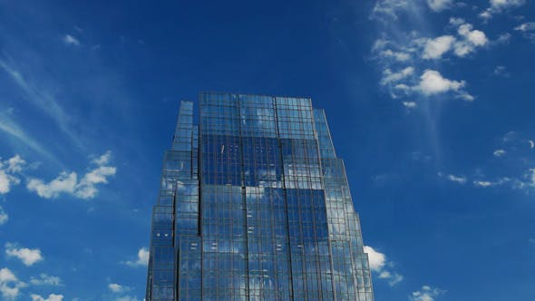 Thumbnail for Modern Skyscraper with Moving Clouds