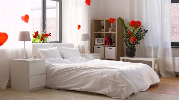Thumbnail for Cozy Bedroom Decorated for Valentines Day