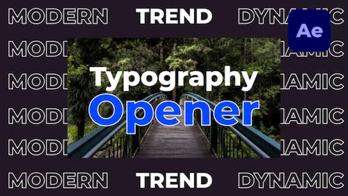 Dynamic Fast Typography Opener