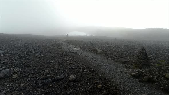Foggy Route on a Dangerous Mountain