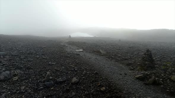 Foggy Route on a Dangerous Mountain