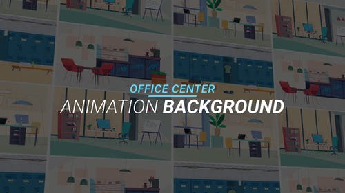 Office center - Animation background