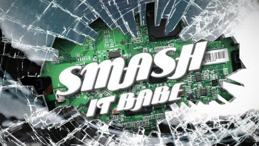 Thumbnail for Smashing Logo or Title Reveal - Realistic 3D