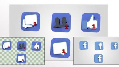 3D Facebook Notifications