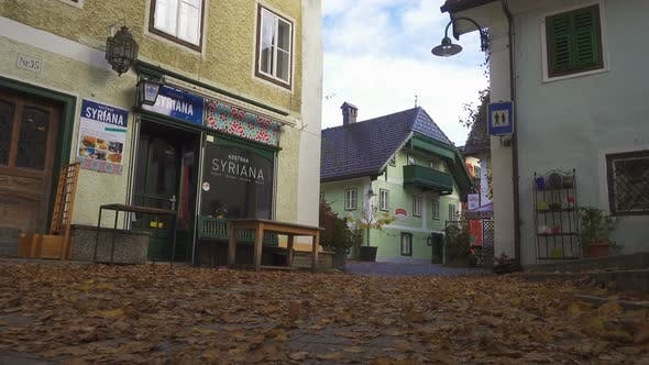 Empty Streets Of Small Austrian Mountain Town 8