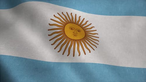 Argentina Flag As a Background