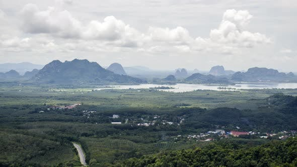 Thumbnail for Misty view of Perlis landscape aerial view.