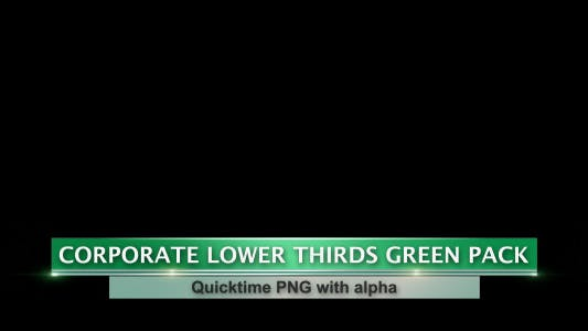 Thumbnail for Corporate Lower Thirds Green Pack