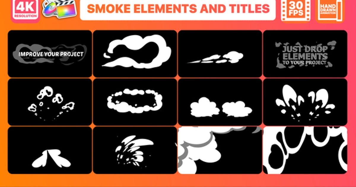 Download Smoke Pack And Titles   FCPX by 2DFXAnimation