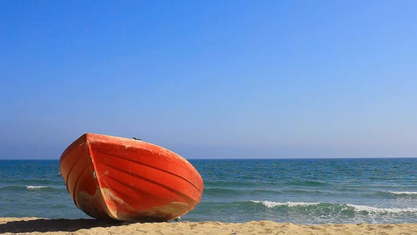 Thumbnail for Red Boat On Beach