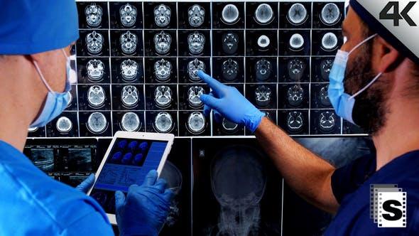 Surgeons Checking Mri
