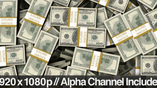 Thumbnail for Stacked Bundles Of $100 Bills Fill Screen Overlay