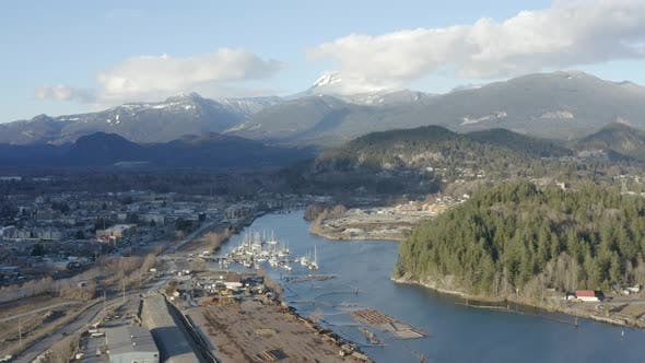 Thumbnail for Squamish BC Canada Aerial Birds Eye View