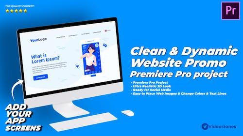 Dynamic & Clean Website Promo Video Premiere Pro