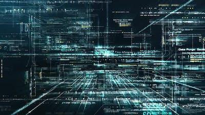 Futuristic Matrix Cyber Environment 02