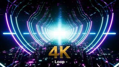Data Flow Neon Cyber World 4K