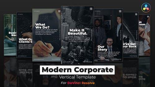 Modern Corporate | DaVinci Resolve Template | Vertical