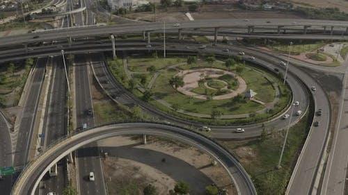 Aerial View Highway Road